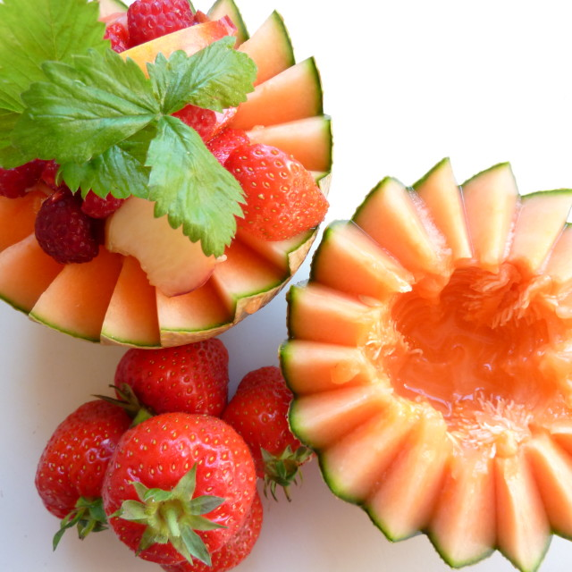 """Melon & Strawberries"" stock image"