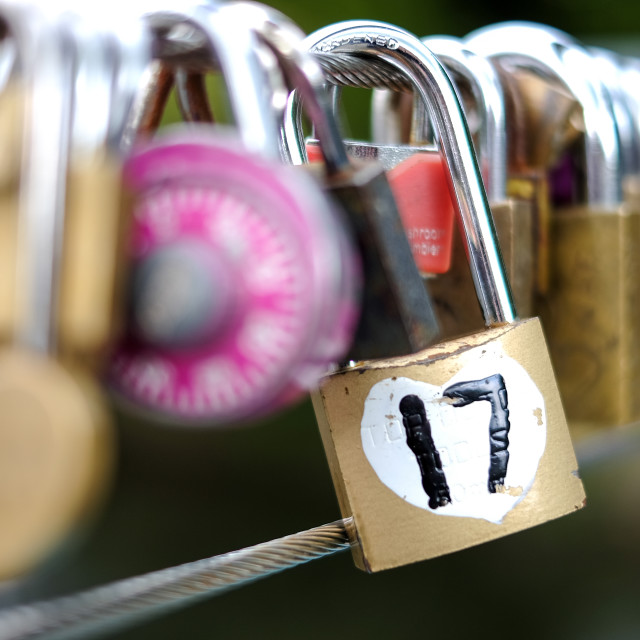 """Love Locks ."" stock image"