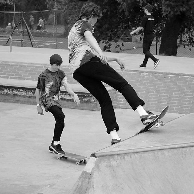 """Retro skaters"" stock image"