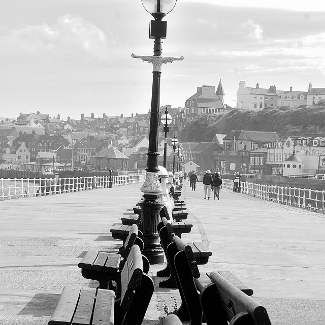 """""""Whitby, seats,yorkshire,2014"""" stock image"""