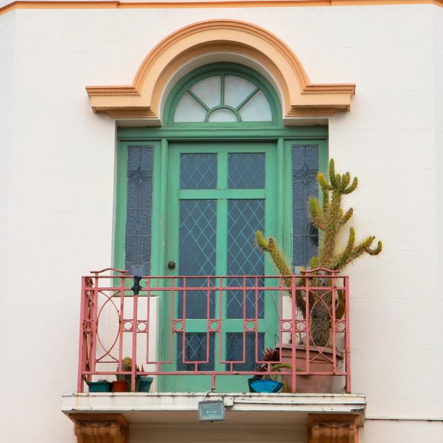 """mission style balcony"" stock image"