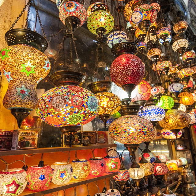 """Grand Bazaar lamps"" stock image"