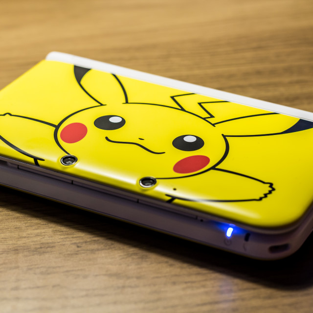 """Nintendo 3DS Pikachu Edition"" stock image"
