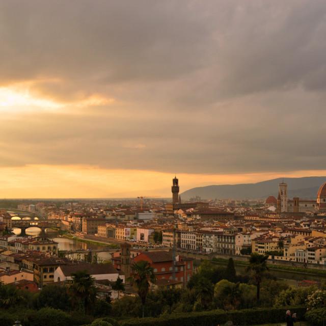 """Basilica di Santa Maria del Fiore, panoramic view"" stock image"