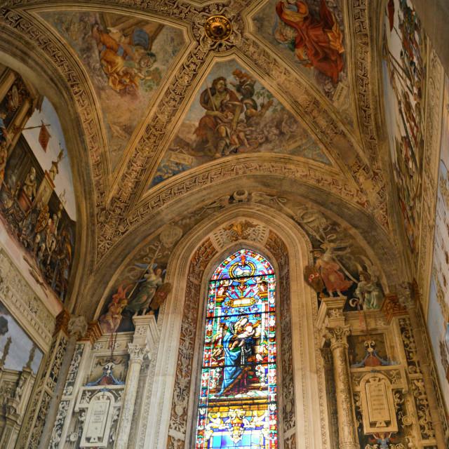 """""""Santa Maria Novella church, Florence"""" stock image"""