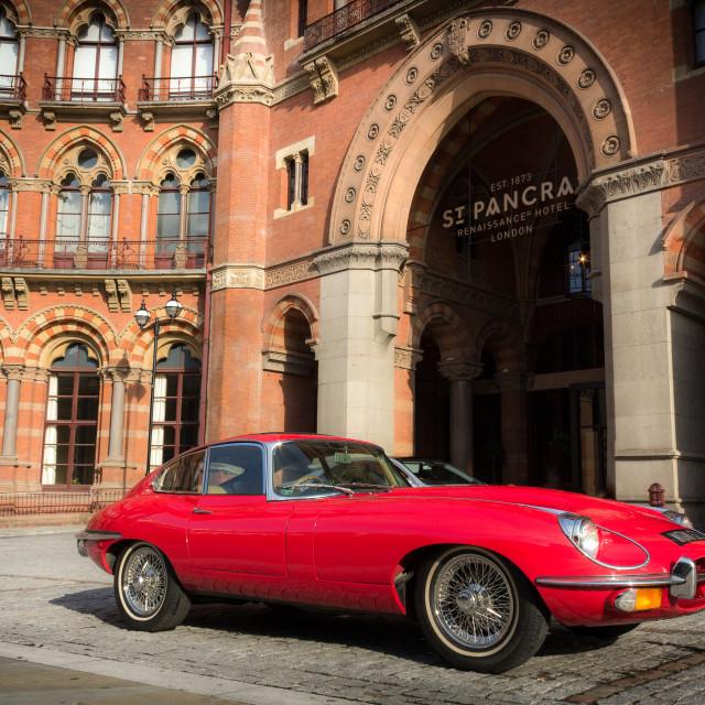 """""""Jaguar E-Type"""" stock image"""