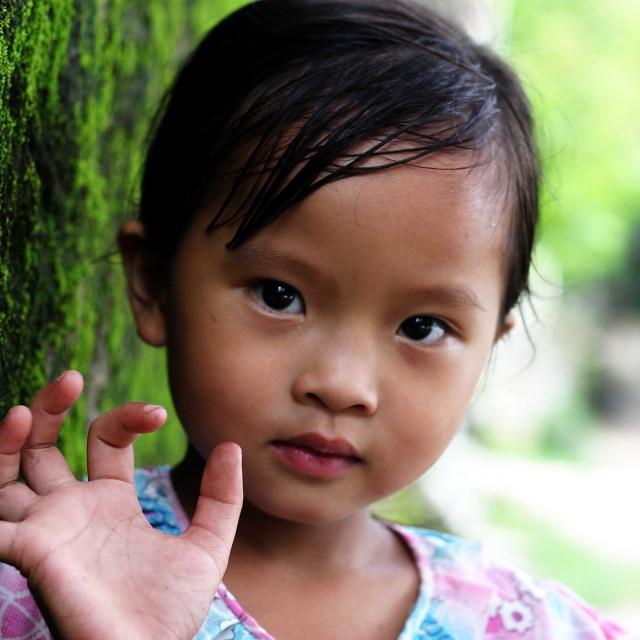 """A little girl"" stock image"
