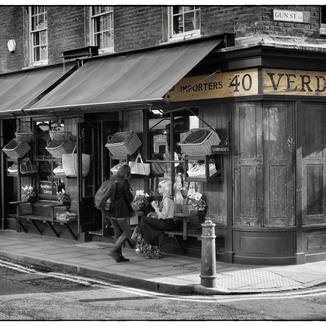 """Gun Street Store, Spitalfields, London"" stock image"