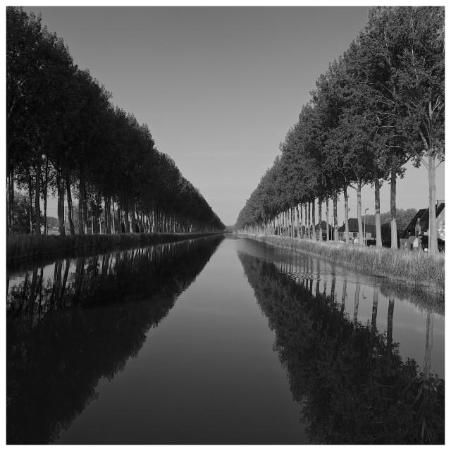 """""""Antwerp canals"""" stock image"""
