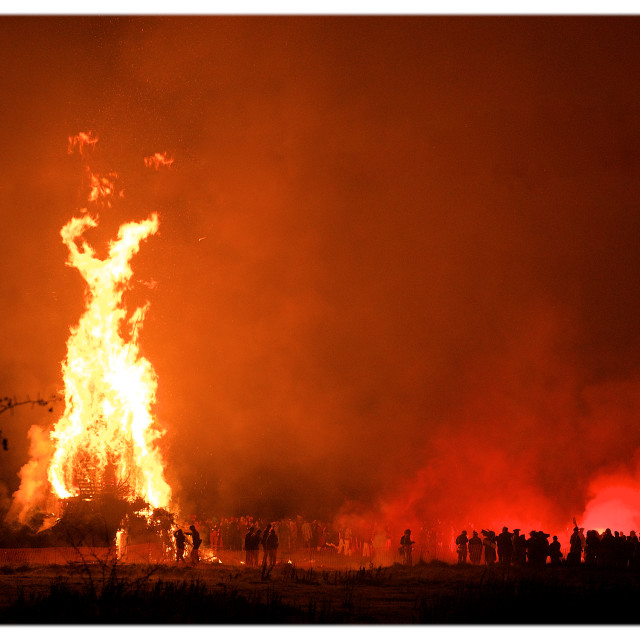 """Robertsbridge Bonfire"" stock image"