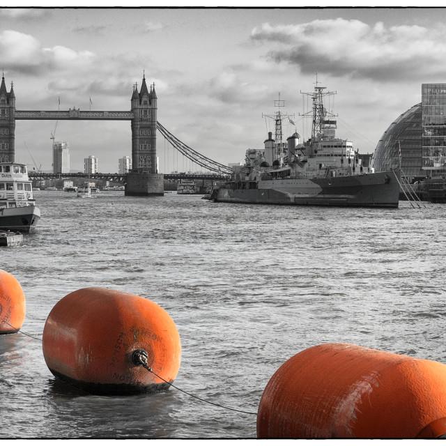 """Belfast & Tower Bridge"" stock image"