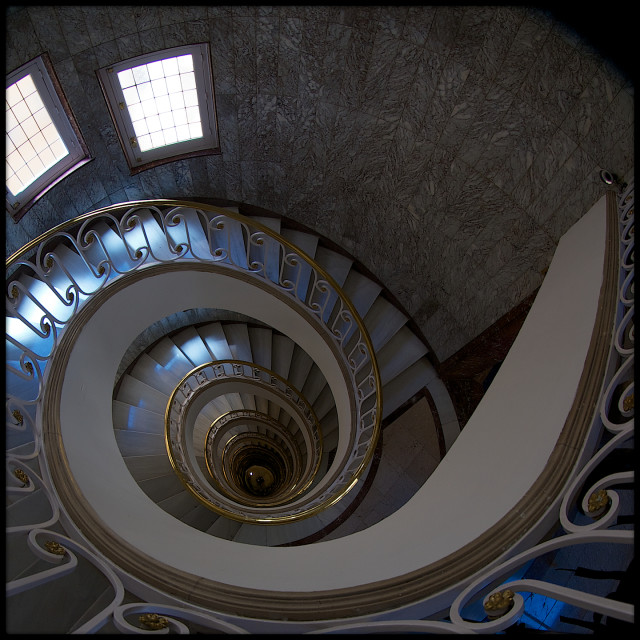"""Staircase, Madrid"" stock image"