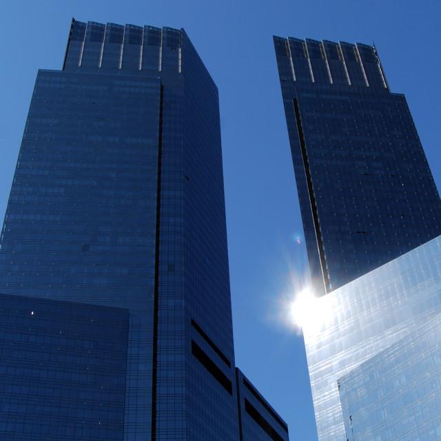"""""""Time-Warner Building"""" stock image"""