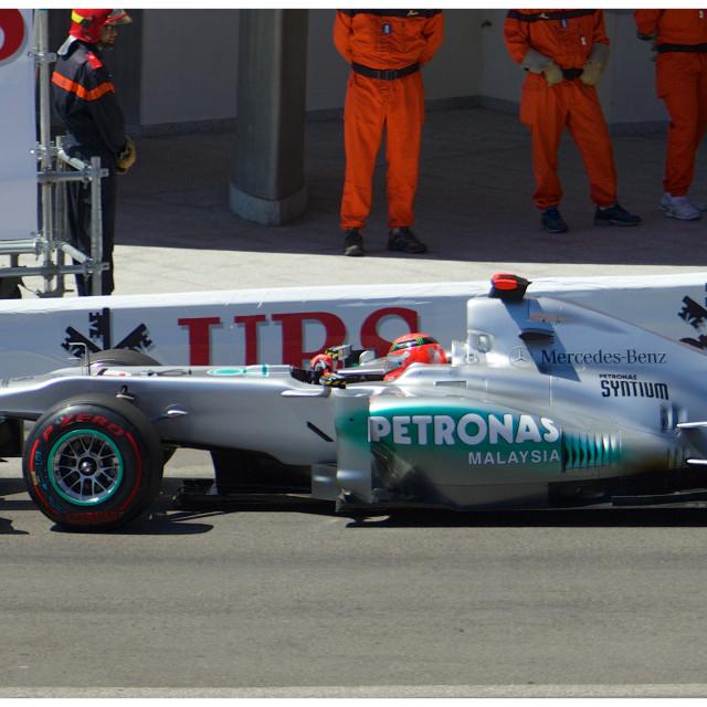 """""""Schumacher, Monaco 2011"""" stock image"""