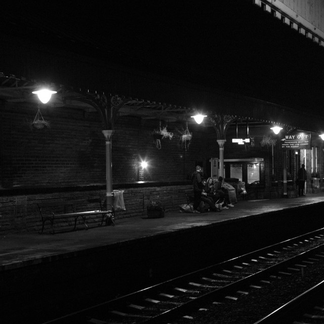 """Hebden Bridge Station"" stock image"