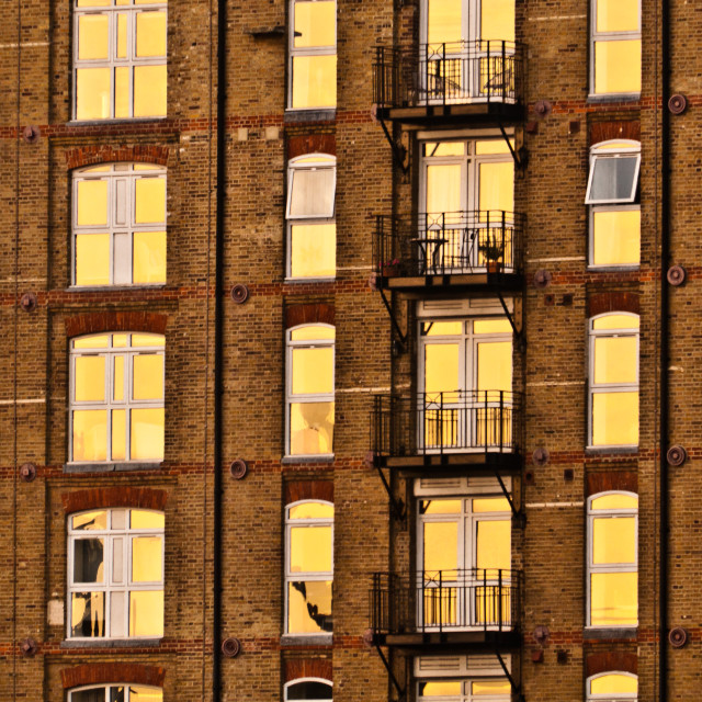 """Sunlit windows"" stock image"