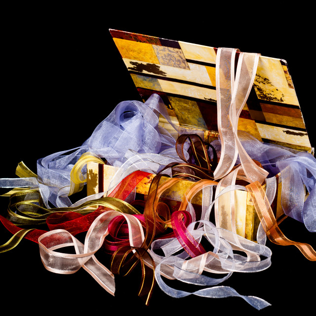 """Box of Ribbons"" stock image"