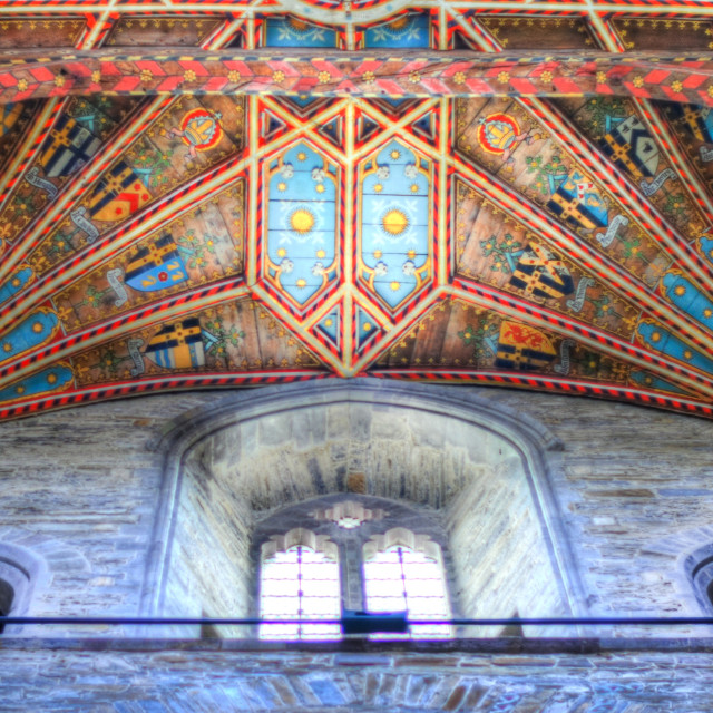 """""""The roof of St David's Cathedral"""" stock image"""