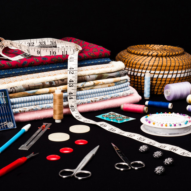 """Sewing Accessories"" stock image"
