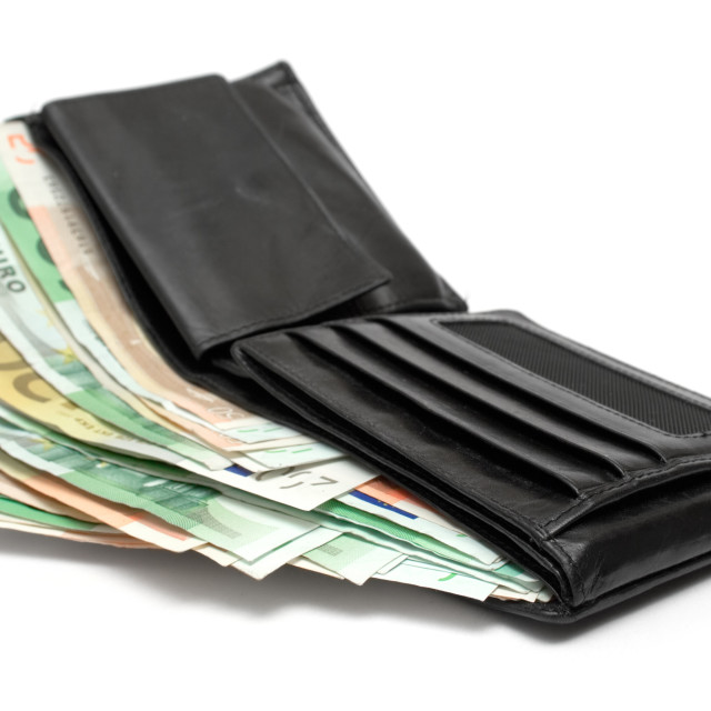 """Wallet with Banknotes"" stock image"