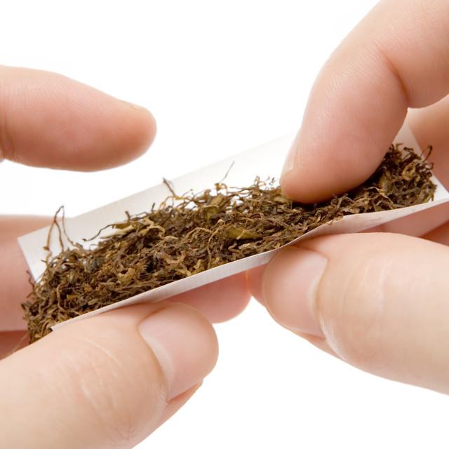 """Self-made Cigarette"" stock image"