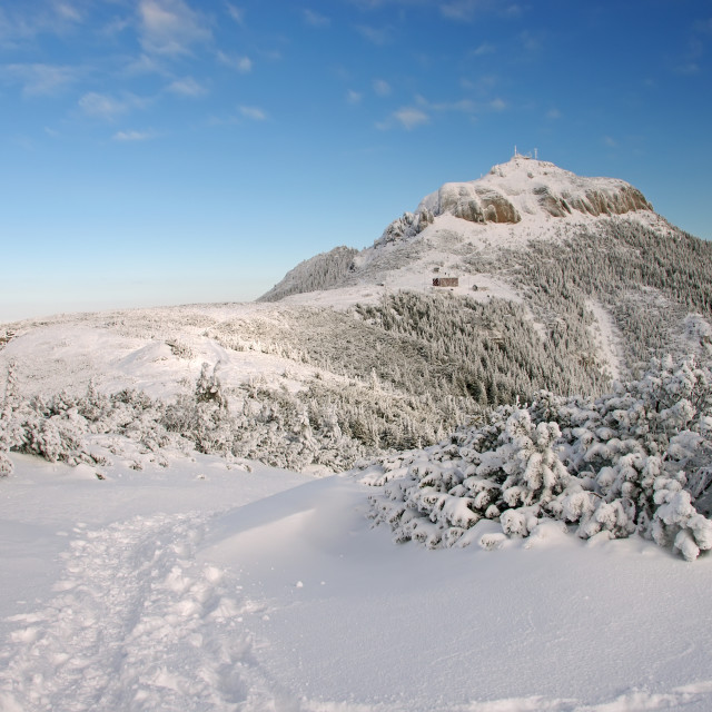 """""""Mountain top in winter"""" stock image"""