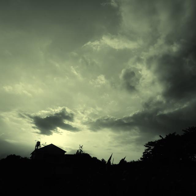 """Dark 2#-House"" stock image"