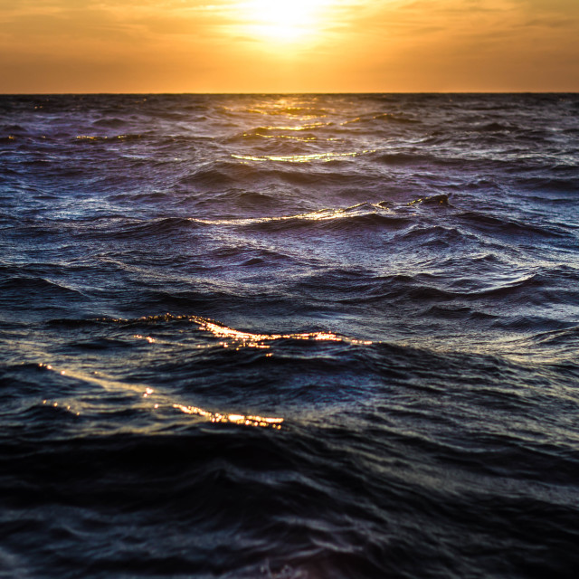 """""""Sunset in the meditterean sea"""" stock image"""