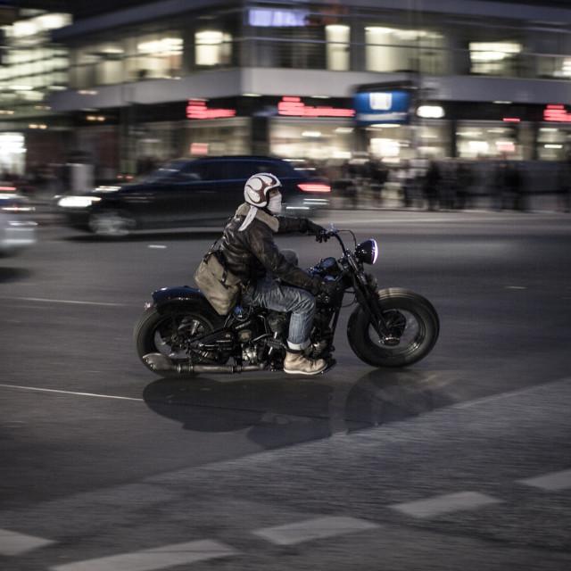 """""""Custom bike rider in Berlin"""" stock image"""