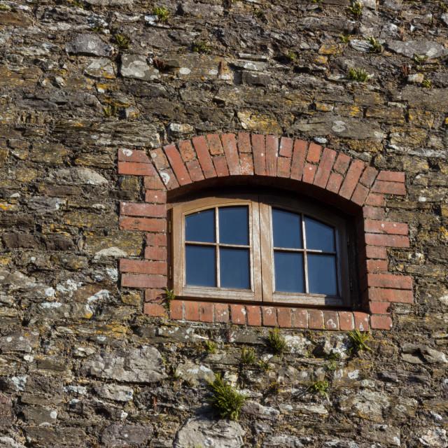 """High gable window"" stock image"