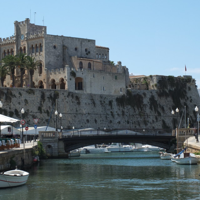 """Ciutadella Harbour"" stock image"
