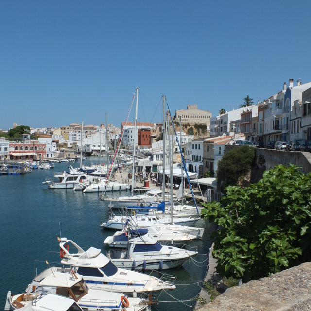 """Ciutadella Harbour View"" stock image"