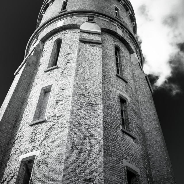 """ancient water tower Ostend"" stock image"