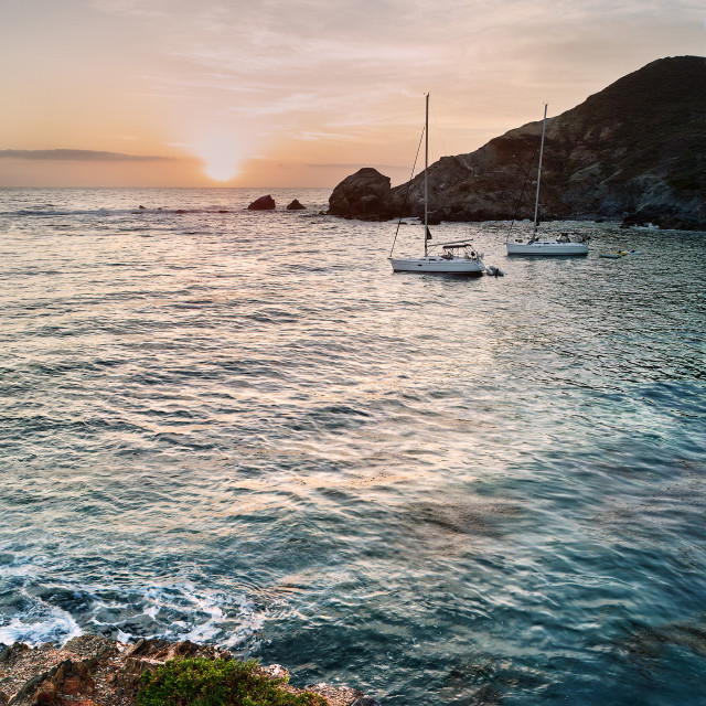 """Catalina Island At Sunset"" stock image"