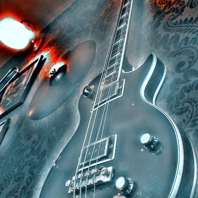 """ghost guitar"" stock image"