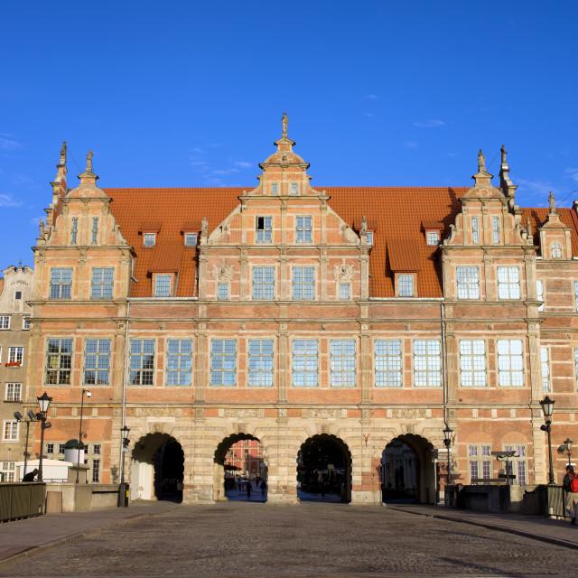 """Green Gate in Gdansk"" stock image"