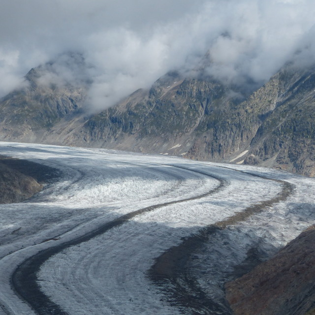 """""""Glacier in the mists"""" stock image"""