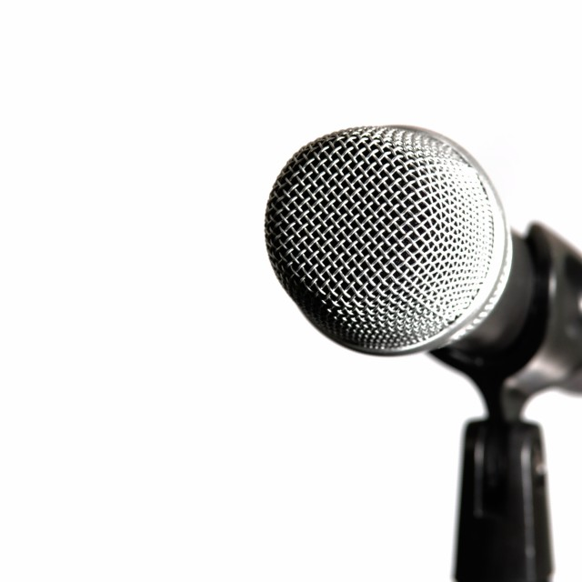 """Microphone isolated on white background"" stock image"