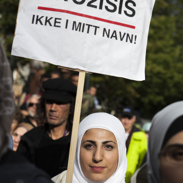 """""""Not In My Name!"""" stock image"""
