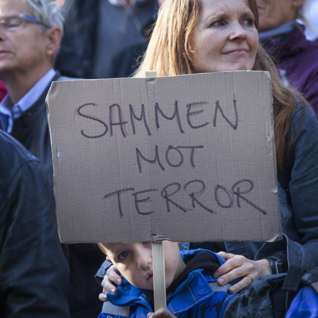 """""""Together against terror"""" stock image"""