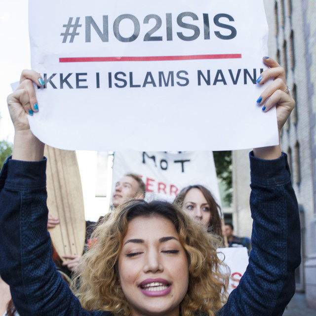 """No2ISIS"" stock image"