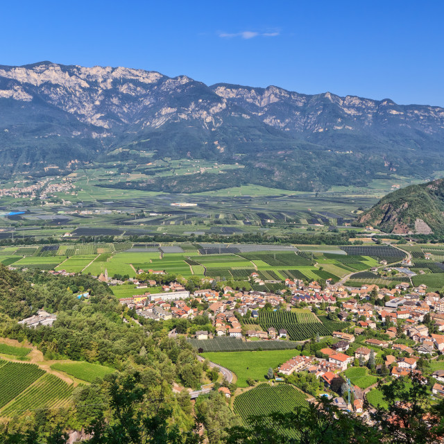 """Overview of Adige Valley"" stock image"