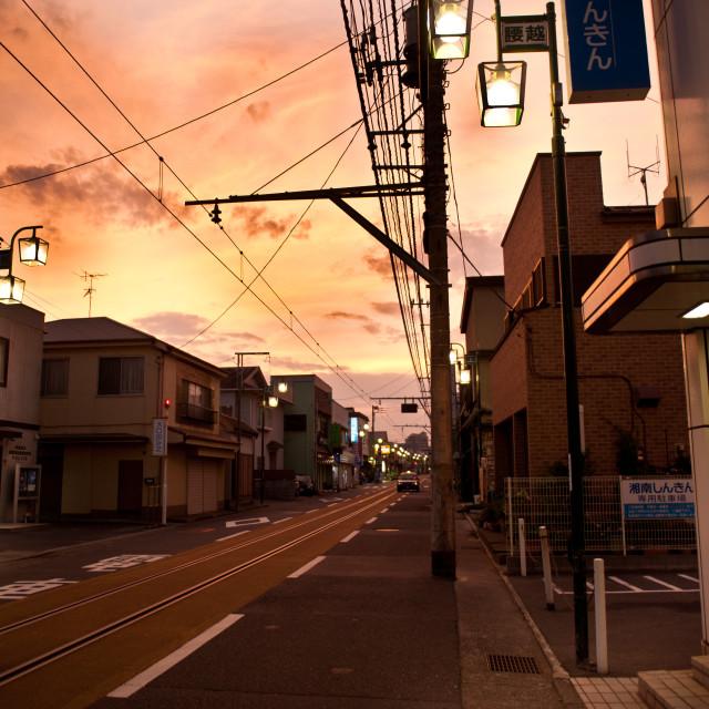 """Kamakura Sunset"" stock image"
