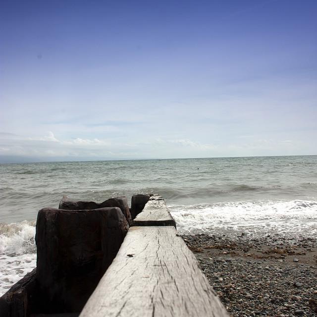 """Sea Wall"" stock image"