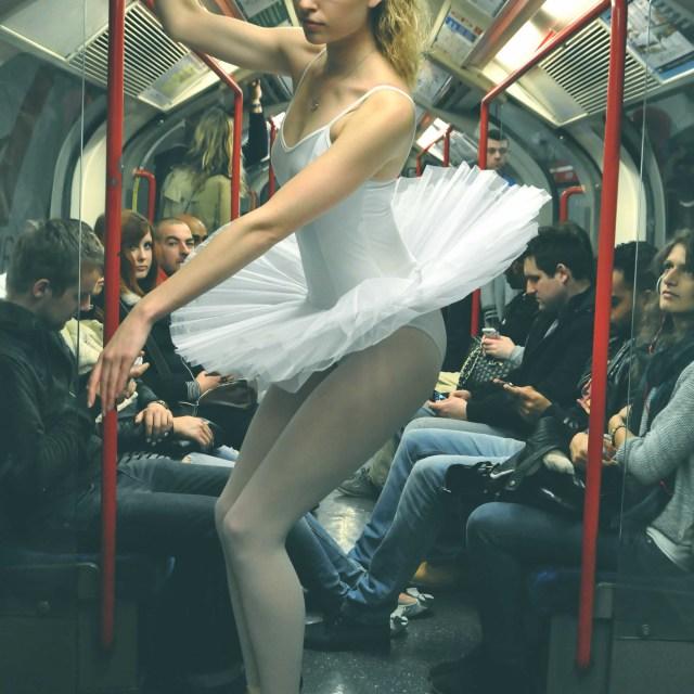 """11. Street Ballerina - Central Line"" stock image"