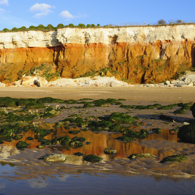 """Cliffs and beach, Hunstanton"" stock image"