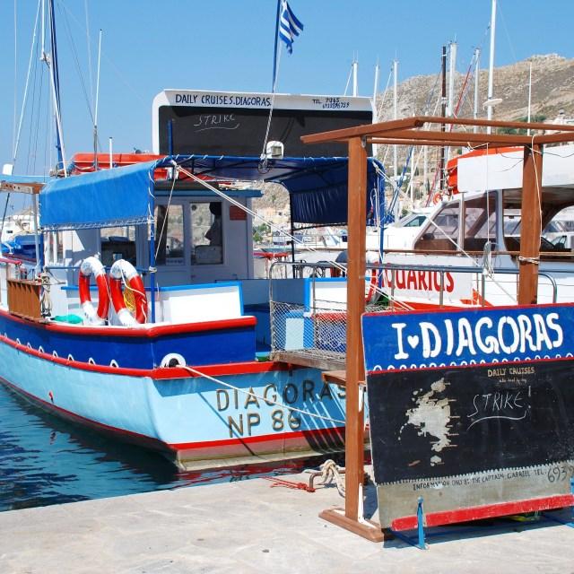 """Diagoras on strike, Symi"" stock image"