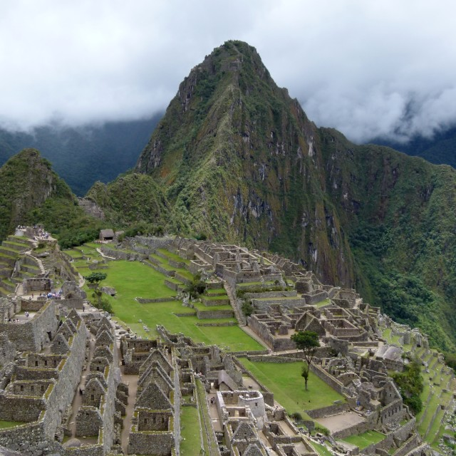 """Machu Picchu overview"" stock image"