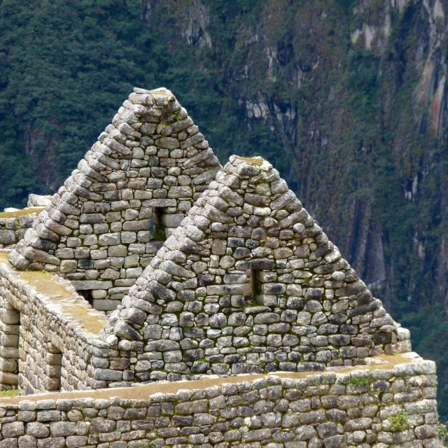 """Machu Picchu, gable ends"" stock image"