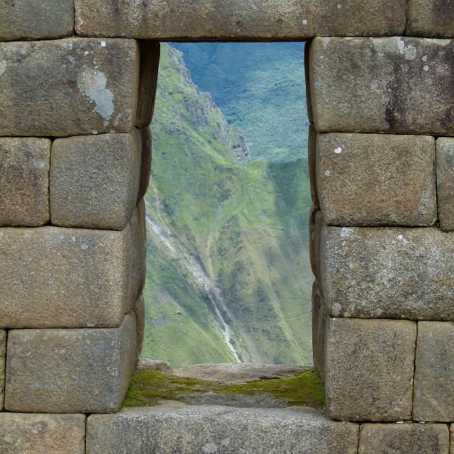 """""""Machu Picchu, stonework"""" stock image"""